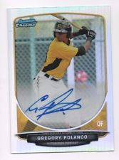 2013 Bowman Chrome Gregory Polanco Autographed Refractor